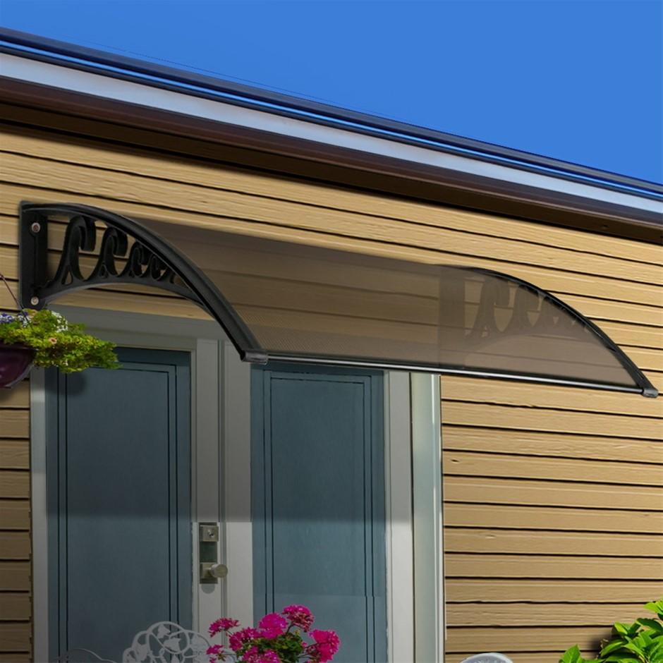Instahut Window Door Awning Door Canopy Patio UV Sun Shield 1mx6m DIY