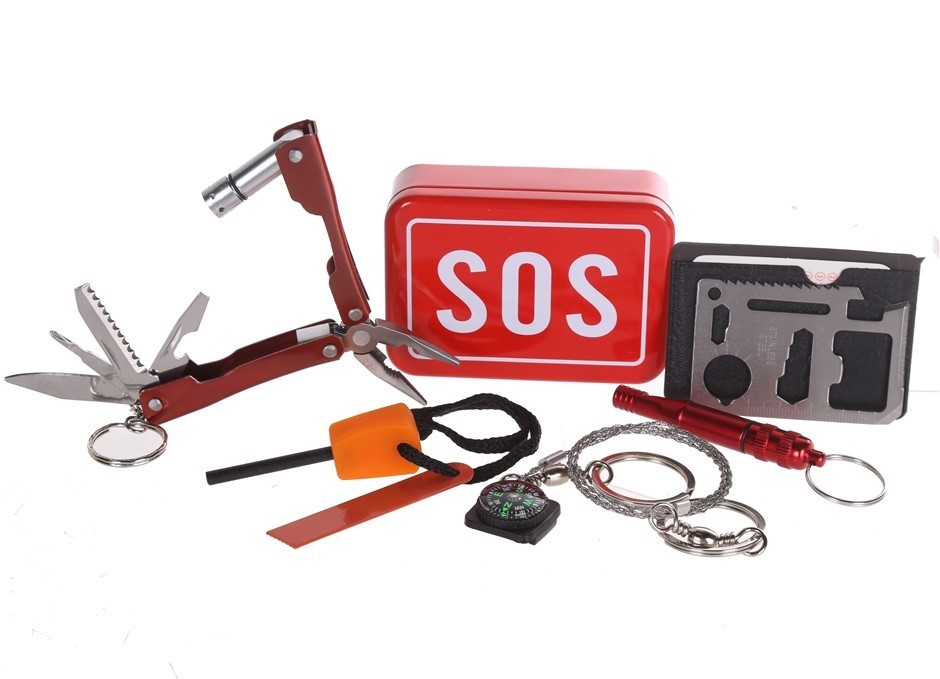 SOS Survival Outdoor Emergency Kit. Buyers Note - Discount Freight Rates Ap