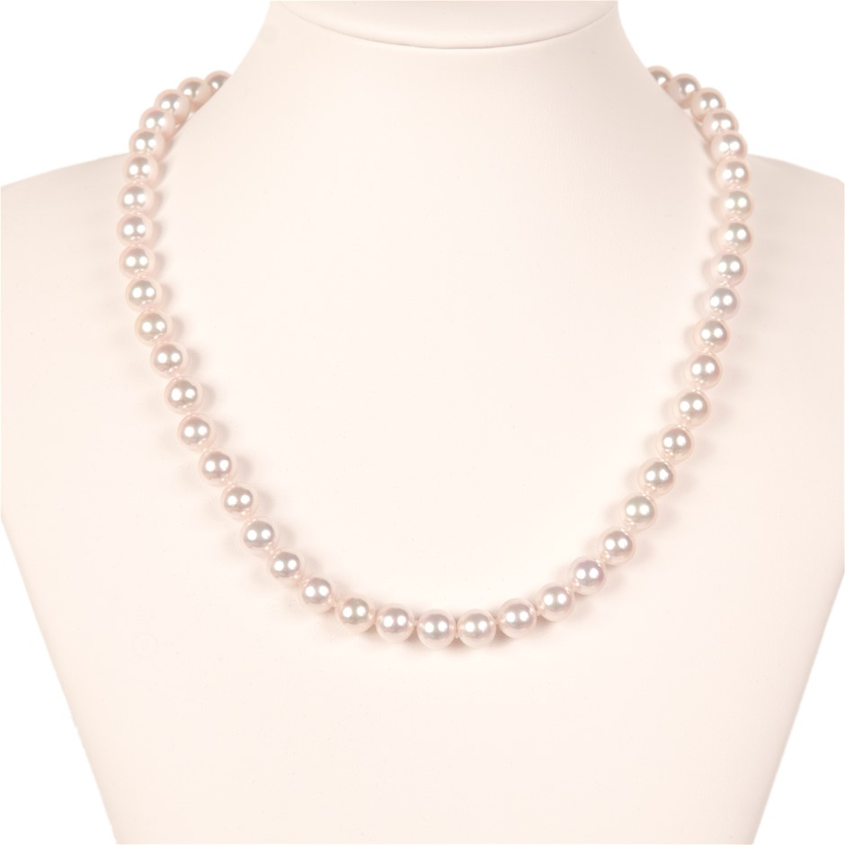 Akoya Pearl Uniform Necklace 7.5 - 8.0mm