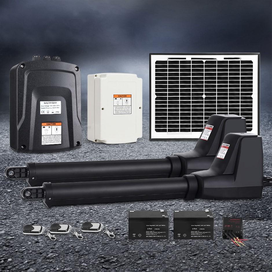 LockMaster Swing Gate Opener Auto Solar Power Electric Kit 1000KG