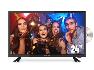"SONIQ E24"" DVB-T TV with DVD Combo"