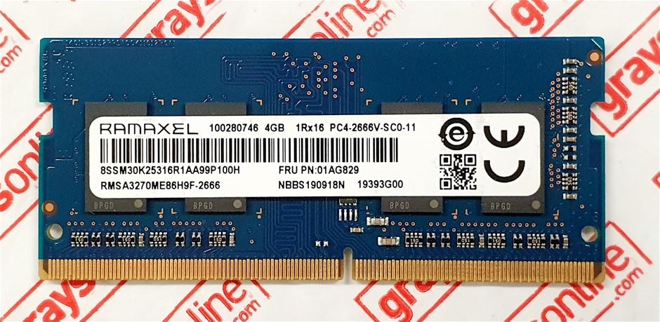 RAMAXEL 4GB PC4-2666V Sodimm DDR4 260pin Laptop Memory Module