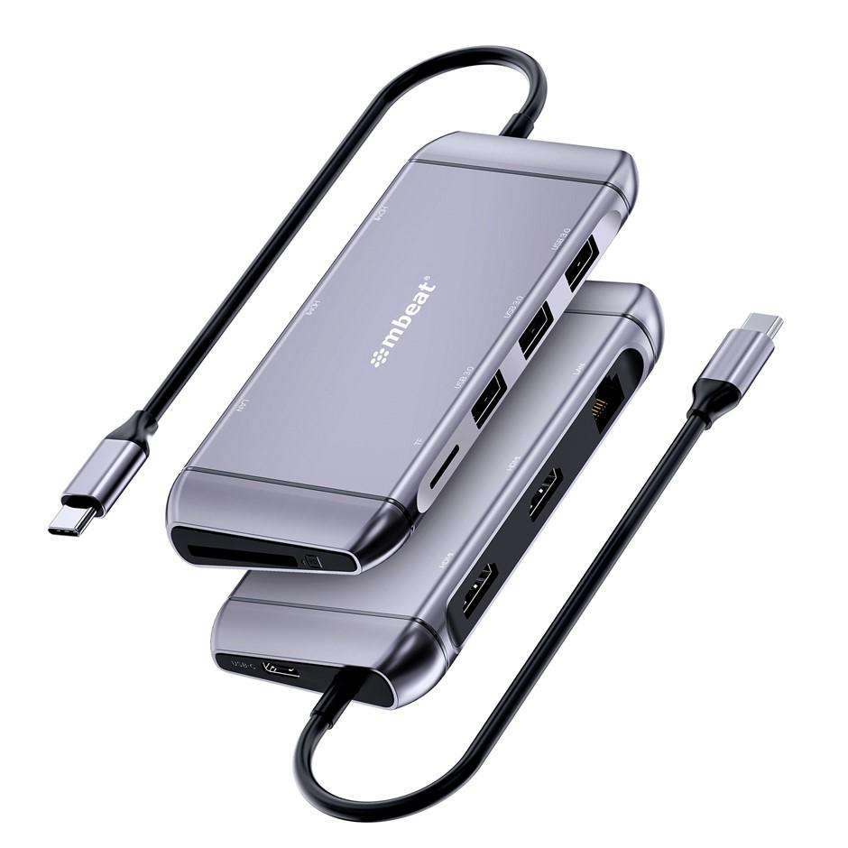 mbeat Elite X11 Dual HDMI 9-in-1 USB-C Docking Station