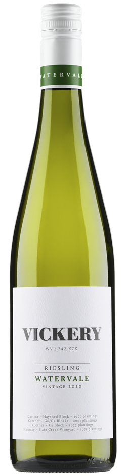 Vickery Watervale Riesling 2019 (6x 750mL), Clare Valley. Screwcap.