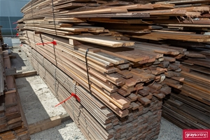 1x Pack of Assorted Recycled Timber Deck
