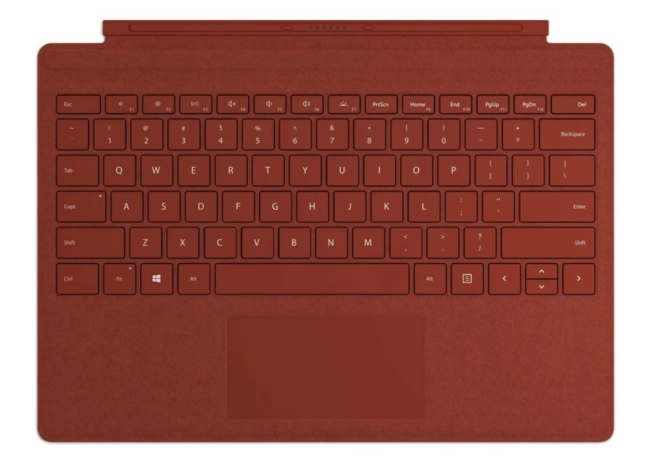 Microsoft Surface Pro 7 Signature Type Cover - Poppy Red