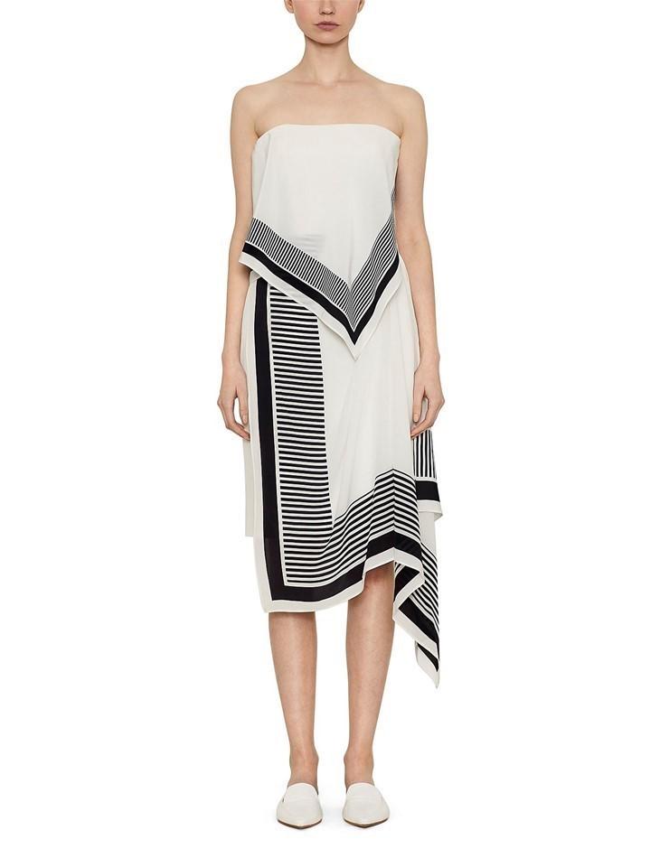 VIKTORIA & WOODS Canter Dress. Size 1, Colour: Black/White. ORP: $490.00 Bu