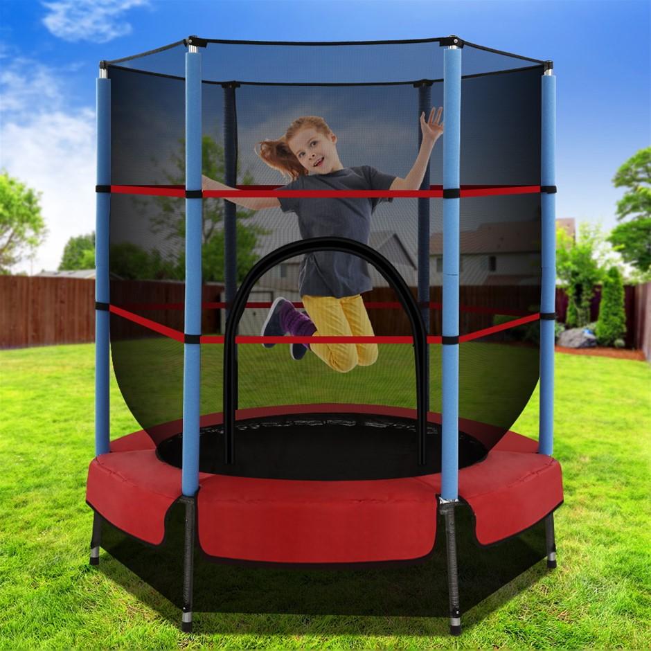 4.5FT Trampoline Round Trampolines Kids Enclosure Safety Net Padding