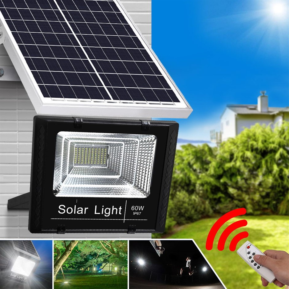 LED Solar Street Flood Light Motion Sensor Remote Outdoor Garden Spot Lamp