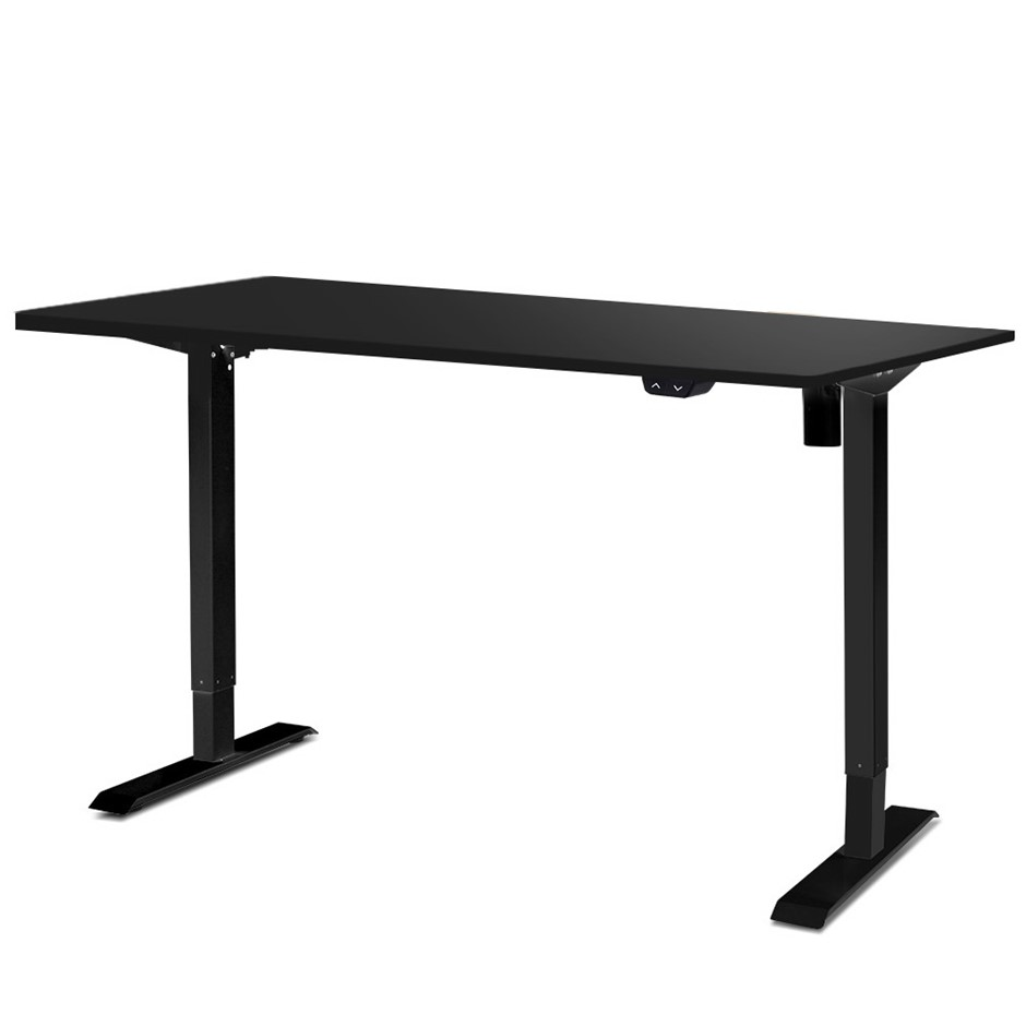 Artiss 140cm Motorised Electric Height Adjustable Standing Desk Black