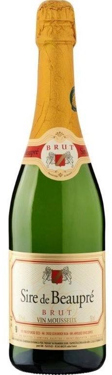 Sire de Beaupre Vin Mousseux Brut NV (6x 750mL), France. Cork