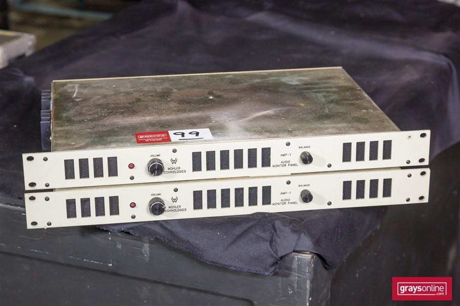 Wohler Tech Amp-1 2x Stereo Audio Monitor Panels