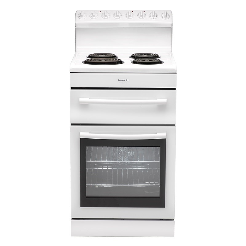 Euromaid Electric Oven + Coil Cooktop (R54RW)