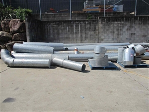 Qty Galvanised Ducting Components