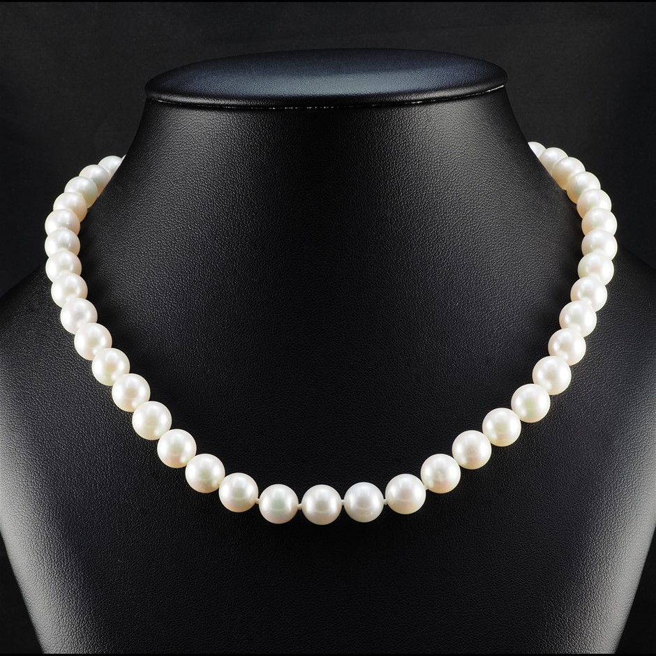 Natural Akoya Pearl Uniform Necklace 8.5 - 9.0mm