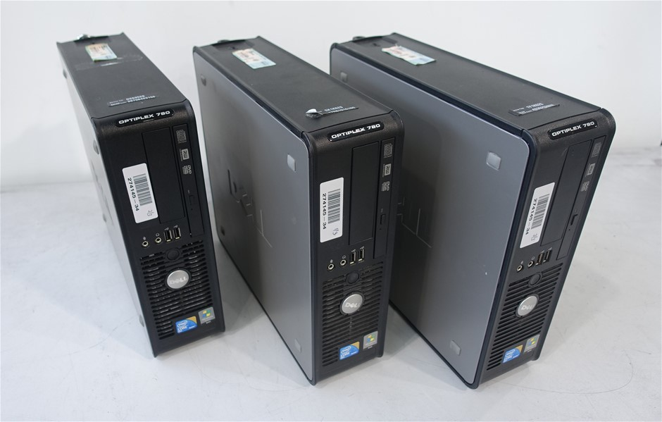 Qty 3 x Dell Optiplex 780 SFF Desktop Pc