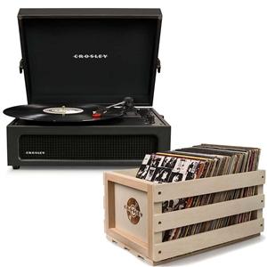 Crosley Voyager Portable Turntable - Bla