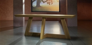 1 x FLAT PACKED GUADIANA Solid Oak Conso
