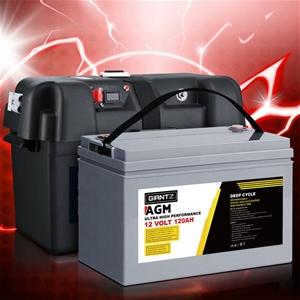 Giantz 120Ah Deep Cycle Battery & Batter