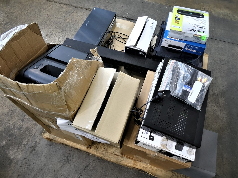 Pallet Containing ASSORTED USED AND UNTESTED Audio Visual Equipment