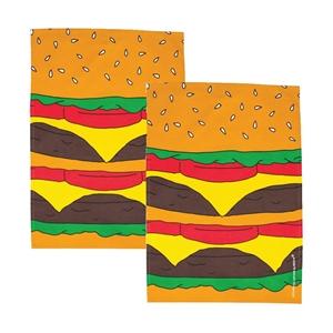 Woouf Kitchen Tea Towel Burger - 2pk