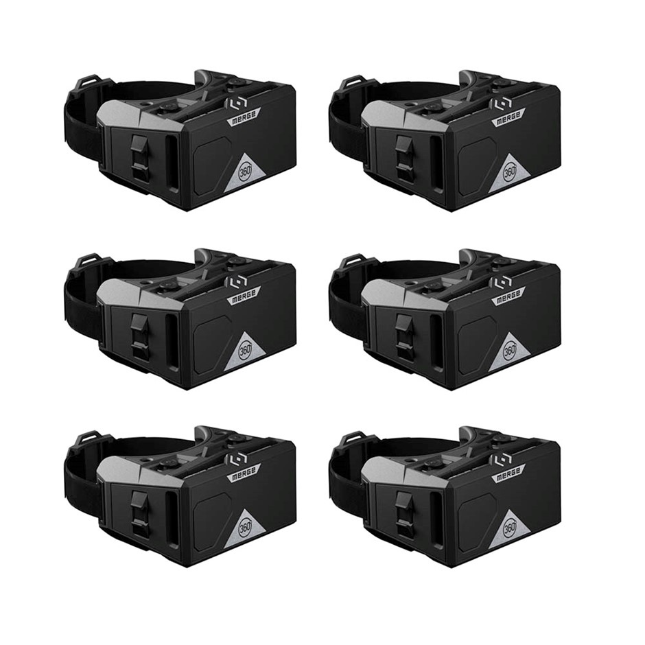 6 Pack Merge VR Mobile AR/VR Headset (Moon Grey)