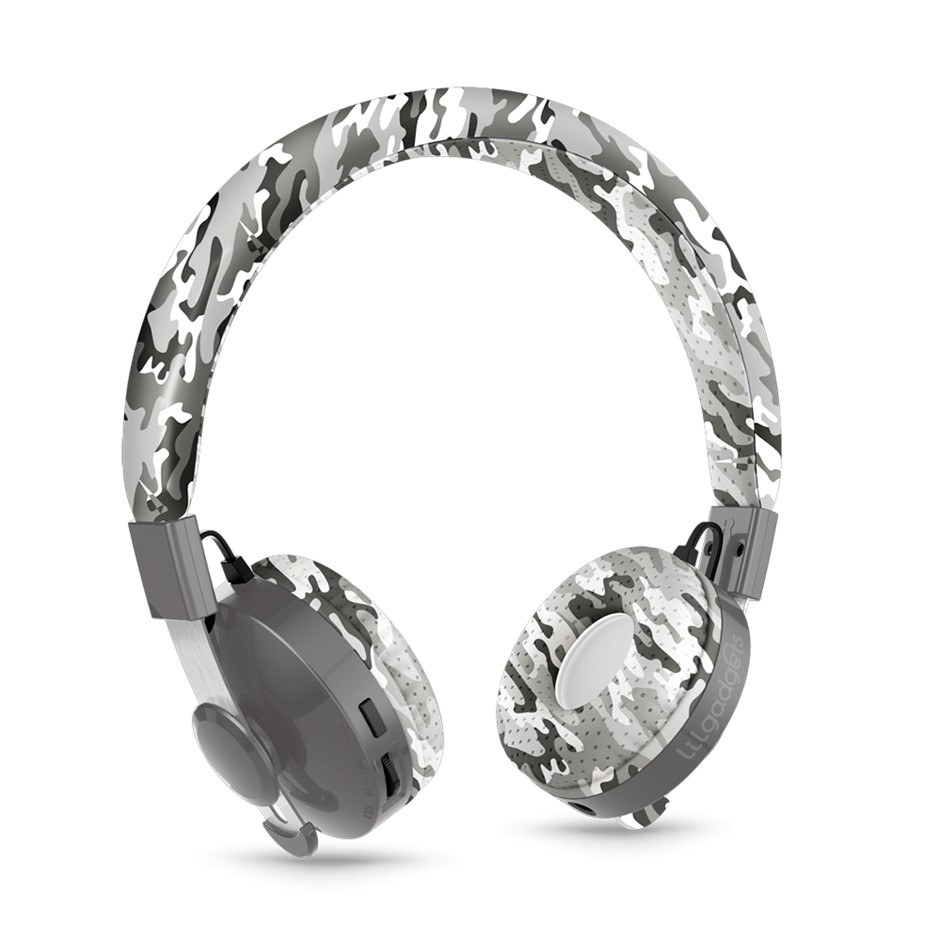 LilGadgets Untangled Pro Children's Wireless Bluetooth Headphones-Snow Camo