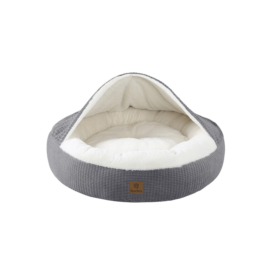 Charlie's Hooded Dog Pad Grey Extra Large
