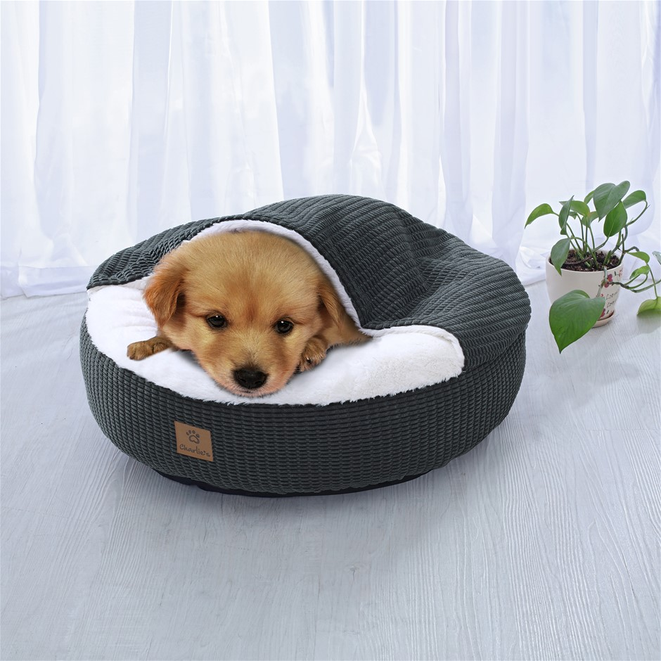 Charlie's Hooded Dog Pad Charcoal Medium