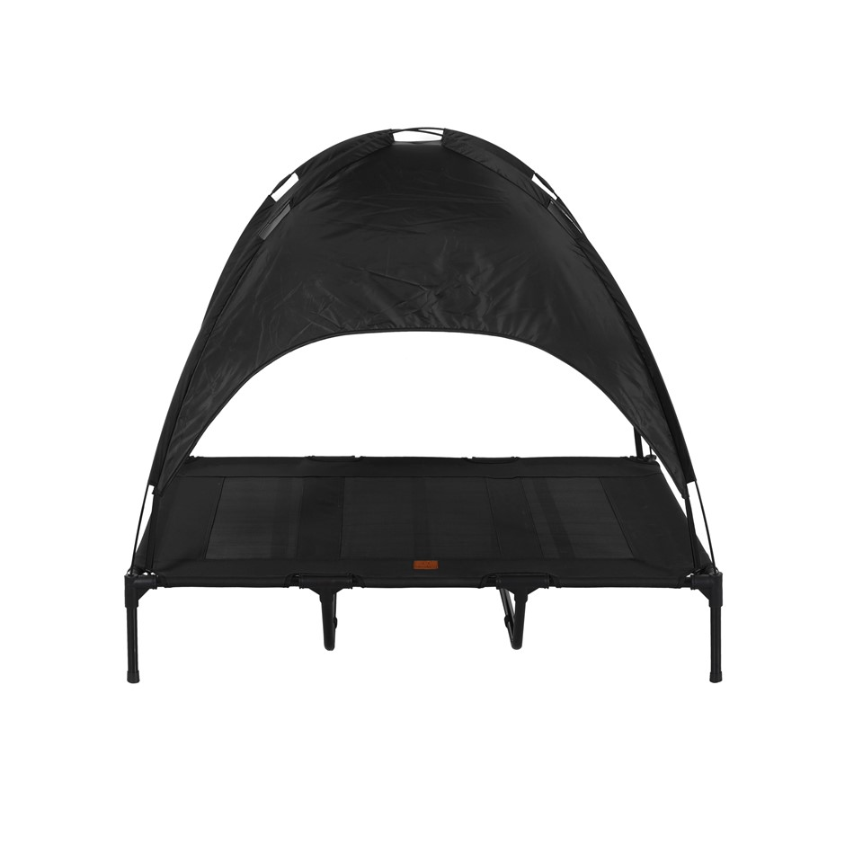 Charlies Elevated Pet Bed With Tent Black Extra Large
