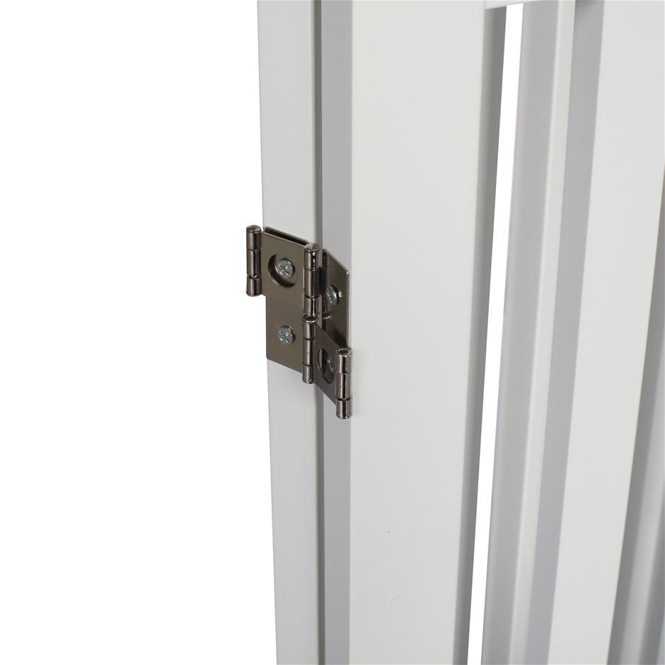 Charlie's Durable 100% MDF 3 Panel Freestanding Pet Gate White