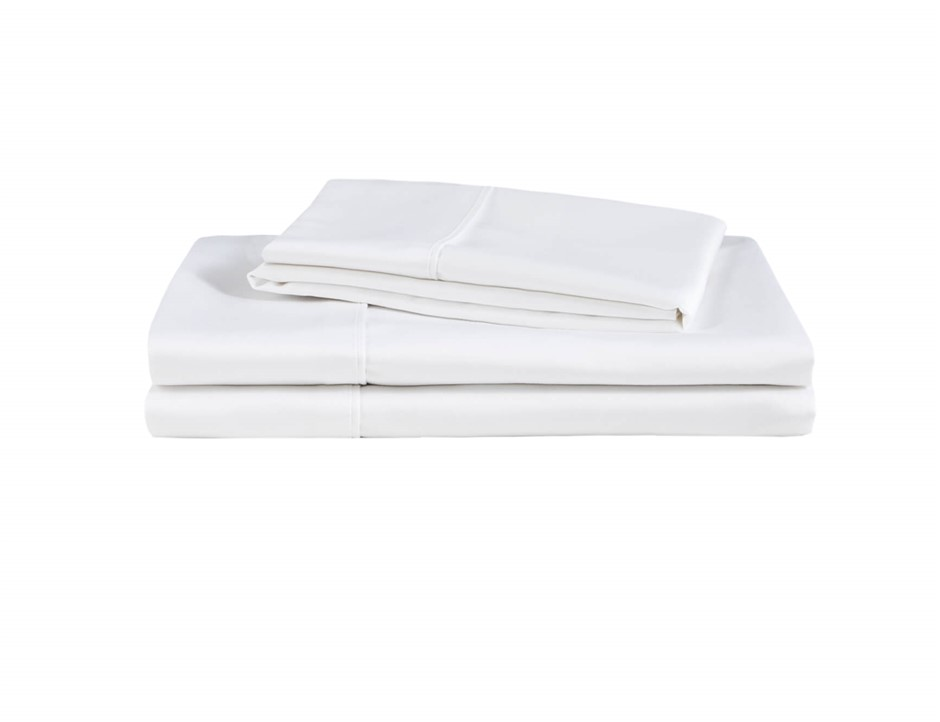 Natural Home Organic Cotton Sheet Set Super King Bed WHITE