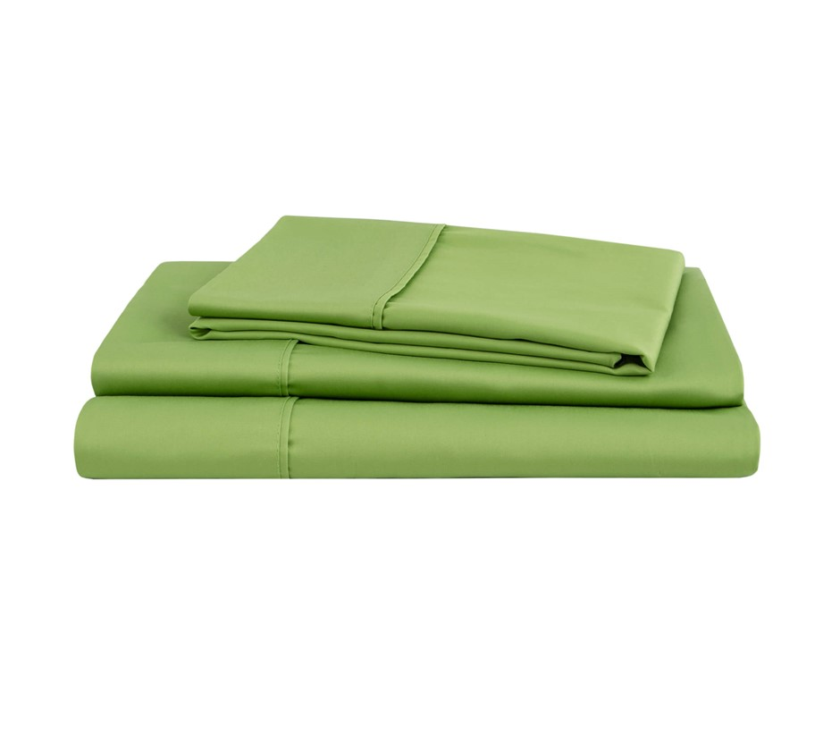 Natural Home Organic Cotton Sheet Set Queen Bed GREEN
