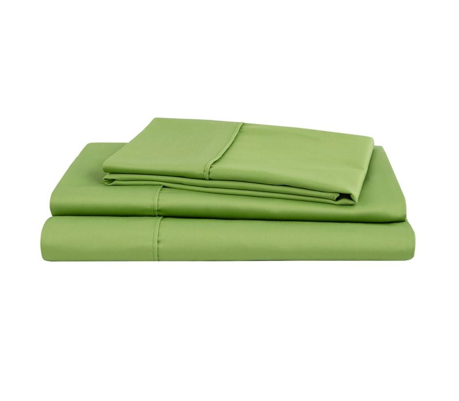 Natural Home Organic Cotton Sheet Set Queen Bed GREEN