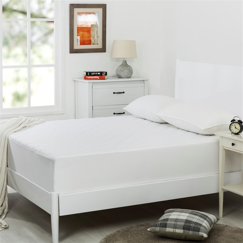 Dreamaker Quilted Cotton Cover Mattress Protector Single Bed