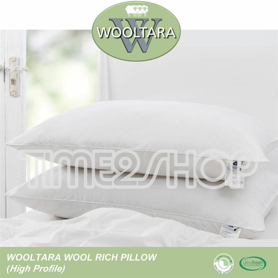 Wooltara Australian Wool Rich Pillow - High Profile