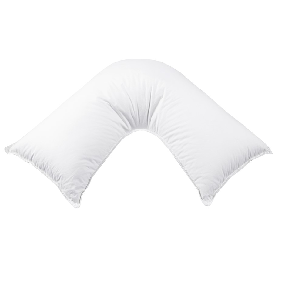 Dreamaker Down Alternative Microfibre V Shape Pillow