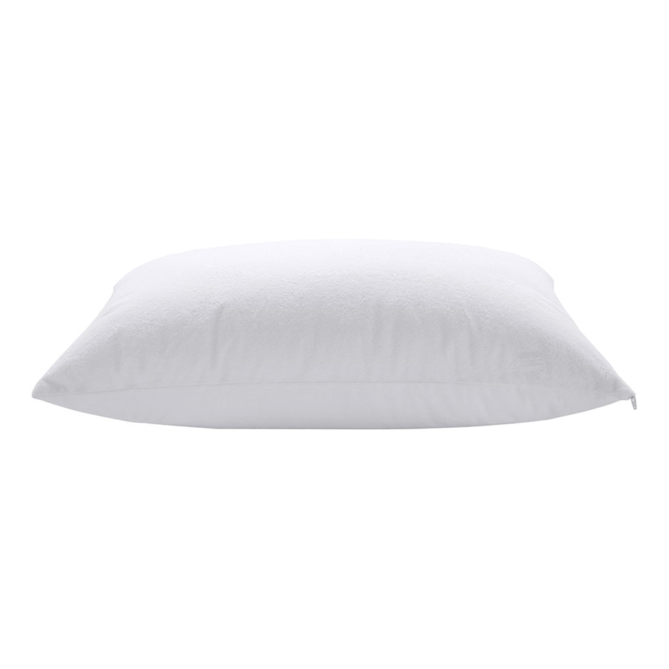 Dreamaker Bamboo Terry Towelling Waterproof Pillow Protector Twin Pack
