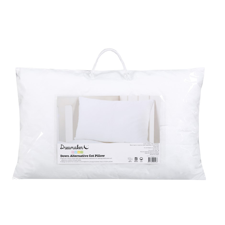 Dreamaker Down Alternative Microfibre Cot Size Pillow