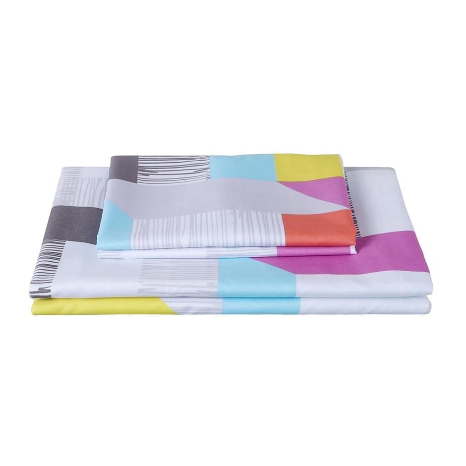 Dreamaker Printed Microfibre Quilt Cover Set Queen Bed Milton