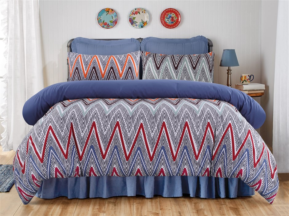 Dreamaker Printed Microfibre Quilt Cover Set King Bed Alberta