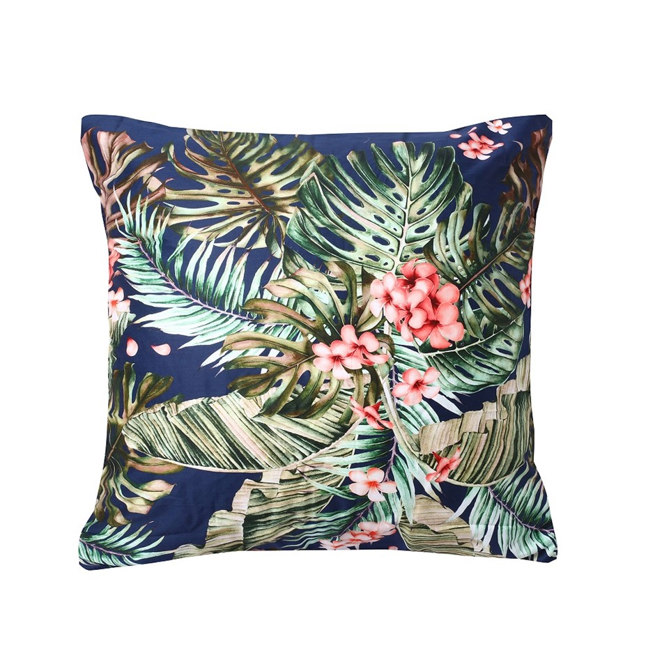 Dreamaker 300TC Cotton Sateen Printed Euro Pillowcase Orchid Forest