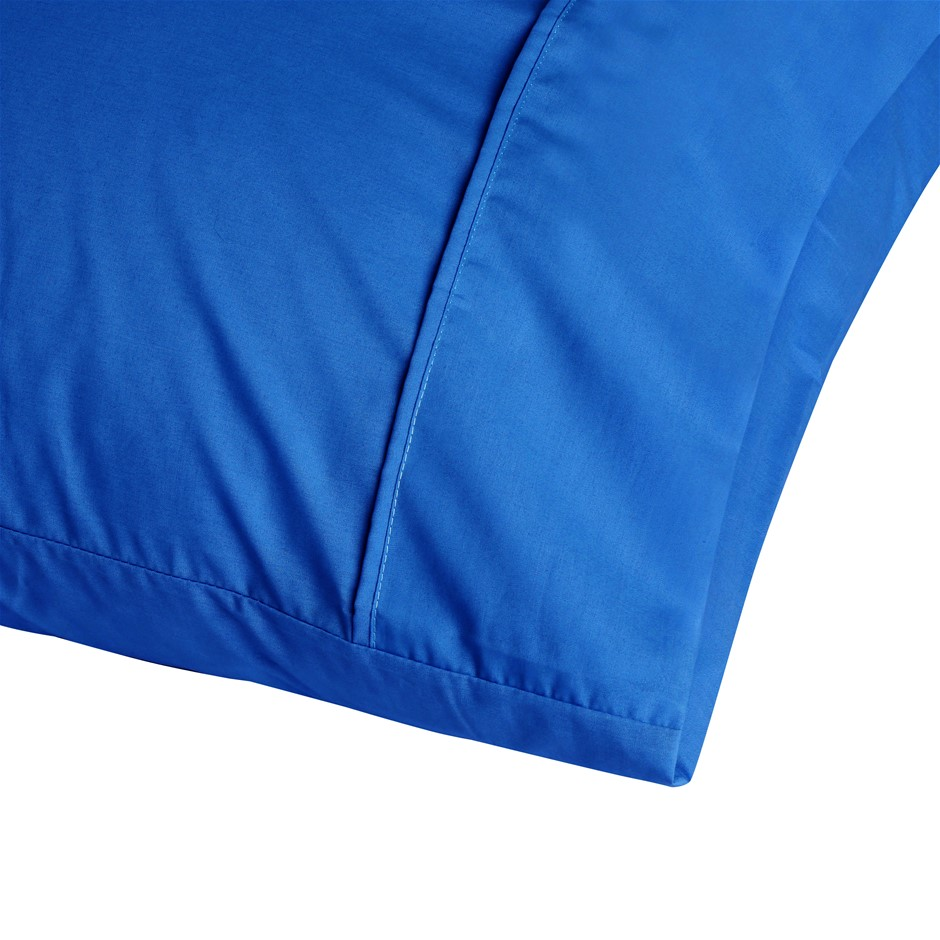 Dreamaker 250TC Plain Dyed King Size Pillowcases - Twin Pack - Deep Blue