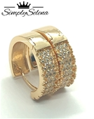 18k Gold Plated Hoop Earrings by SimplySelena