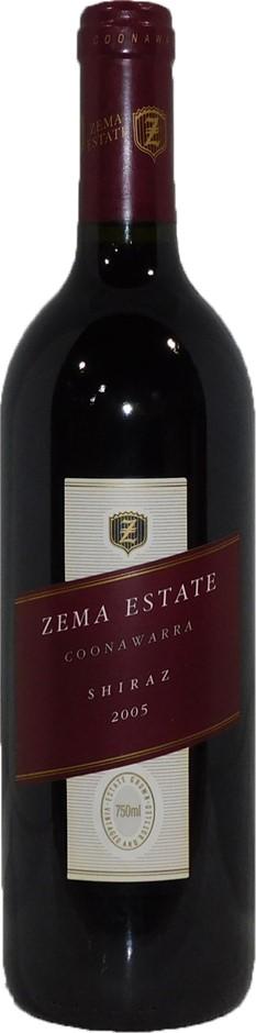 Zema Estate Shiraz 2005 (6x 750mL), Coonawarra, SA. Cork