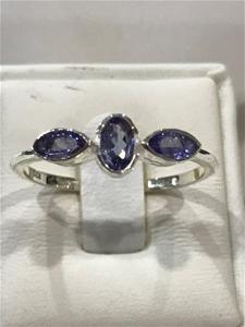 Beautiful Genuine Tanzanite Ring Size O