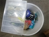 1 x Tub of Assorted Fishing Line and Soft Plastic Lures