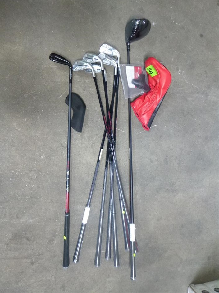 1 x Part Set of Golf Clubs Including Wedge, Irons, Driver - Right Handed