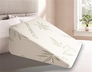 Cool Gel Memory Foam Bed Wedge Pillow Cu