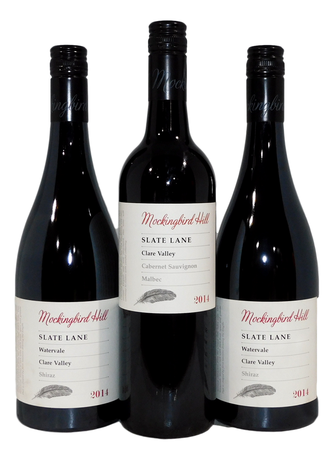 Mixed Pack of Mockingbird Hill Slate Lane Red 2014 (3x 750mL), Clare Valley